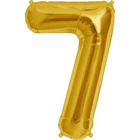 34 inch Gold Number 7 Foil Mylar Balloon