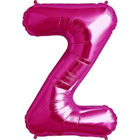 34 inch Magenta Letter Z Foil Mylar Balloon