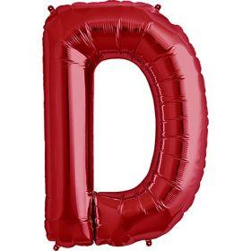 34 inch Red Letter D Foil Mylar Balloon