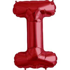 34 inch Red Letter I Foil Mylar Balloon