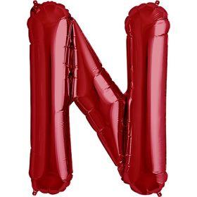 34 inch Red Letter N Foil Mylar Balloon