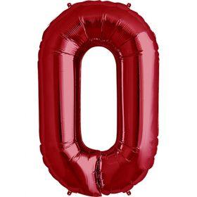 34 inch Red Letter O Foil Mylar Balloon