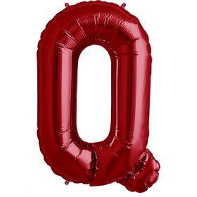 34 inch Red Letter Q Foil Mylar Balloon