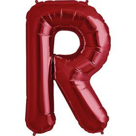 34 inch Red Letter R Foil Mylar Balloon