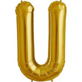 34 inch Gold Letter U Foil Mylar Balloon