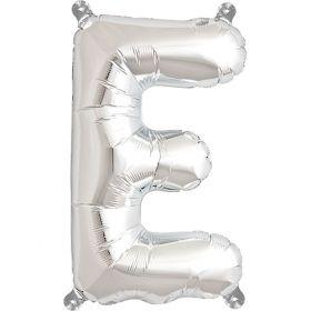 16 inch Silver Letter E Foil Mylar Balloon
