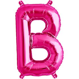 16 inch Magenta Letter B Foil Mylar Balloon