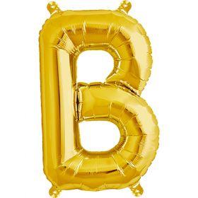 16 inch Gold Letter B Foil Mylar Balloon