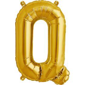 16 inch Gold Letter Q Foil Mylar Balloon