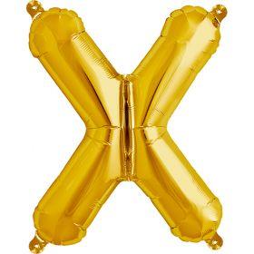 16 inch Gold Letter X Foil Mylar Balloon