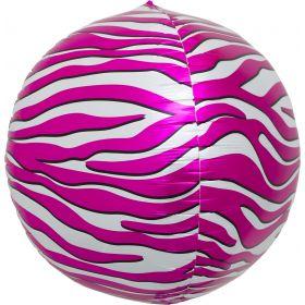 17 inch Northstar Pink Zebra Stripe Sphere Foil Balloons