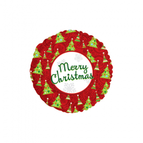 18 inch Foil Mylar Merry Christmas Round Balloon