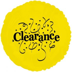 "18"" Foil Mylar Yellow Circle Clearance Balloon"