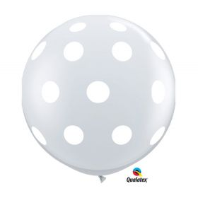 Qualatex Diamond Clear Big Polka Dots Around 36 inch Latex Balloons - 2 count