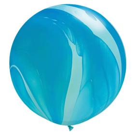 Qualatex Blue Rainbow Agate 30 inch Latex Balloon - 2 count