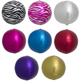 Solid Color Sphere Foil Balloons