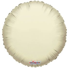 18 inch Ivory Circle Foil Balloons