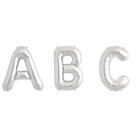 34 inch Silver Letters and Numbers
