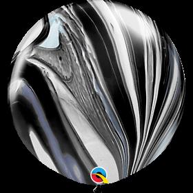 Qualatex Black/White Rainbow Agate 30 inch Latex Balloon - 2 count