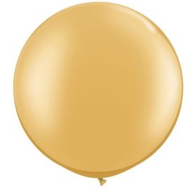 36 inch Tuf-Tex Round Latex Balloons - Metallic Gold