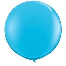 36 inch Tuf-Tex Round Latex Balloons - Robin's Egg Blue
