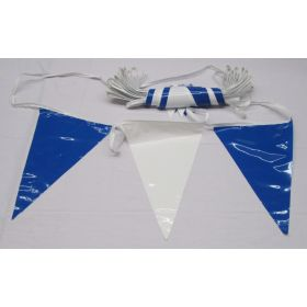 105 Foot Blue & White Pennant String