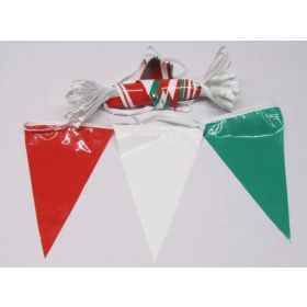 105 Foot Red, Green & White Pennant String