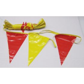 105 Foot Red & Yellow Pennant String
