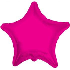 18 inch Magenta Star Foil Balloons