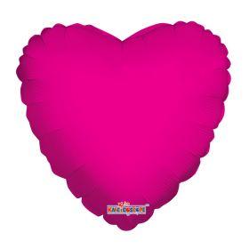 18 inch Magenta Heart Foil Balloons