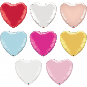 36 inch Qualatex Heart Foil Balloons