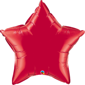 Qualatex 36 inch Red Star Foil Balloons