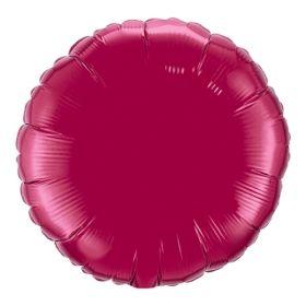 18 inch Burgundy Circle Foil Balloons