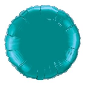 18 inch Teal Circle Foil Balloons
