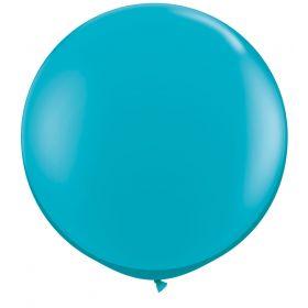 36 inch Tuf-Tex Round Latex Balloons - Turquoise