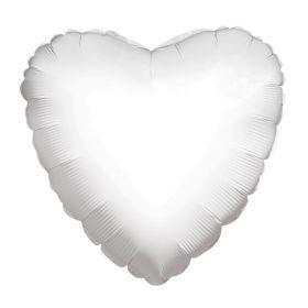 18 inch White Heart Foil Balloons