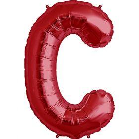 34 inch Red Letter C Foil Mylar Balloon