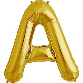 34 inch Gold Letter A Foil Mylar Balloon