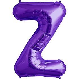 34 inch Purple Letter Z Foil Mylar Balloon