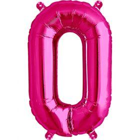 16 inch Magenta Letter O Foil Mylar Balloon