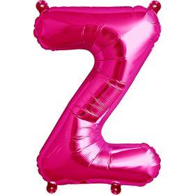 16 inch Magenta Letter Z Foil Mylar Balloon