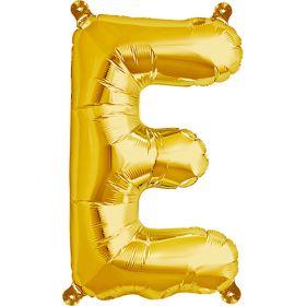 16 inch Gold Letter E Foil Mylar Balloon