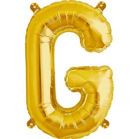 16 inch Gold Letter G Foil Mylar Balloon
