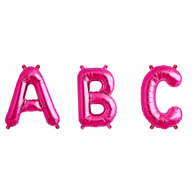 16 Inch Magenta  Letters and Numbers