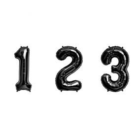 34 inch Black Numbers
