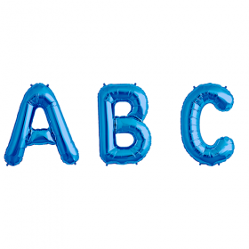 34 inch Blue Letters and Numbers