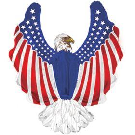 36 inch Patriotic Eagle Shape Foil Balloon