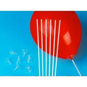 "Premium Standard Balloon Holder & 15"" Balloon Stick - 100 count"