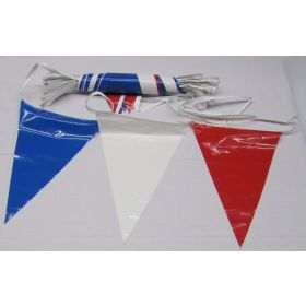 105 Foot Red, White & Blue Pennant String