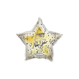 18 inch Foil Mylar New Year Toast Star Balloon - CTI